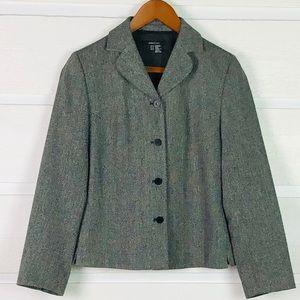 ZARA Basic Black/White Tweed Jacket